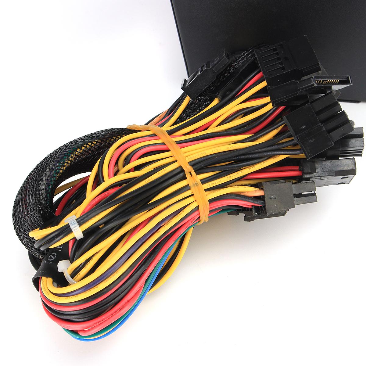 850W 12V ATX Computer Power Supply 12CM Fan 20/4PIN For Intel AMD PC 110V-230V