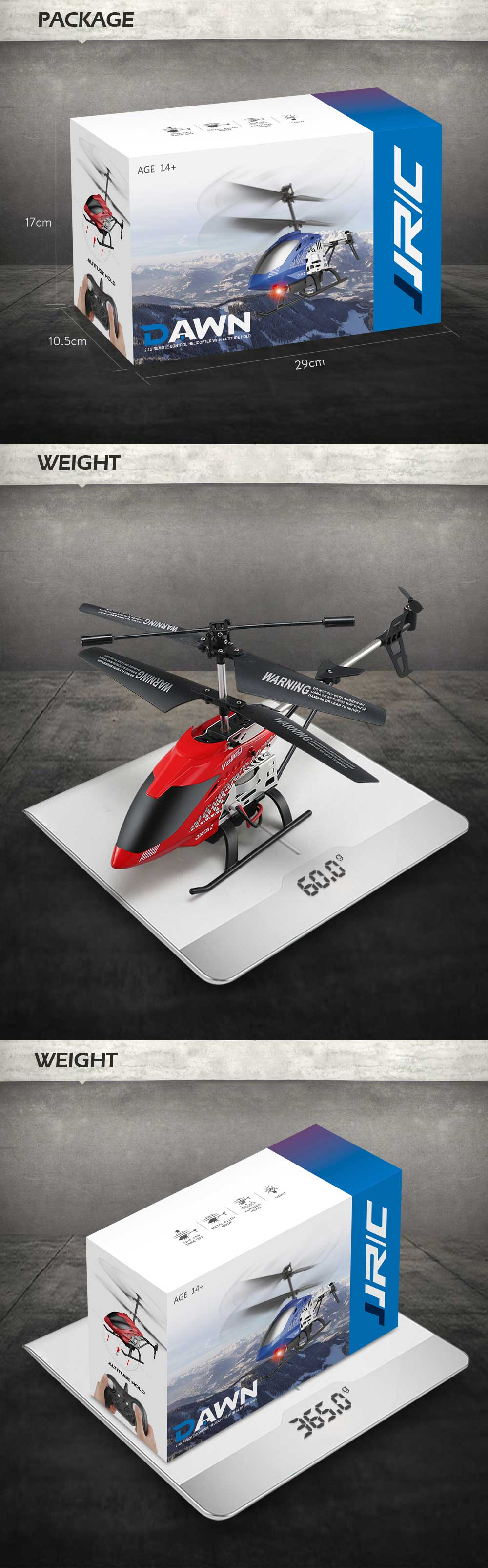 JJRC JX01 2.4G 3.5CH 6-Axis Gyro With Altitude Hold Alloy RC Helicopter