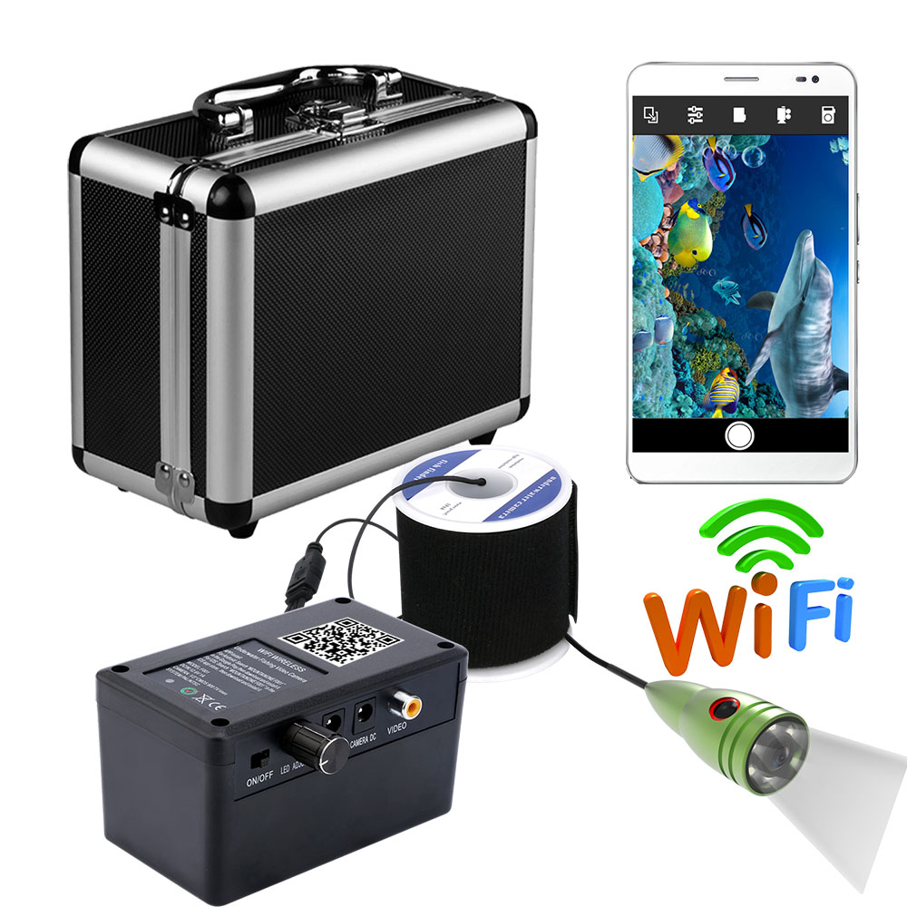 HD 2.4G Wifi 1000TVL Wireless Underwater Camera Fishing Fish Finder Fishfinders