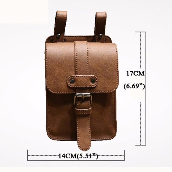 6inches Cell Phone Smartphone Waist Bag PU Leather Crossboby Bag