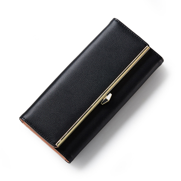 Women Candy Color Hasp Long Wallet Luxury Purse Card Holder Coin Bags