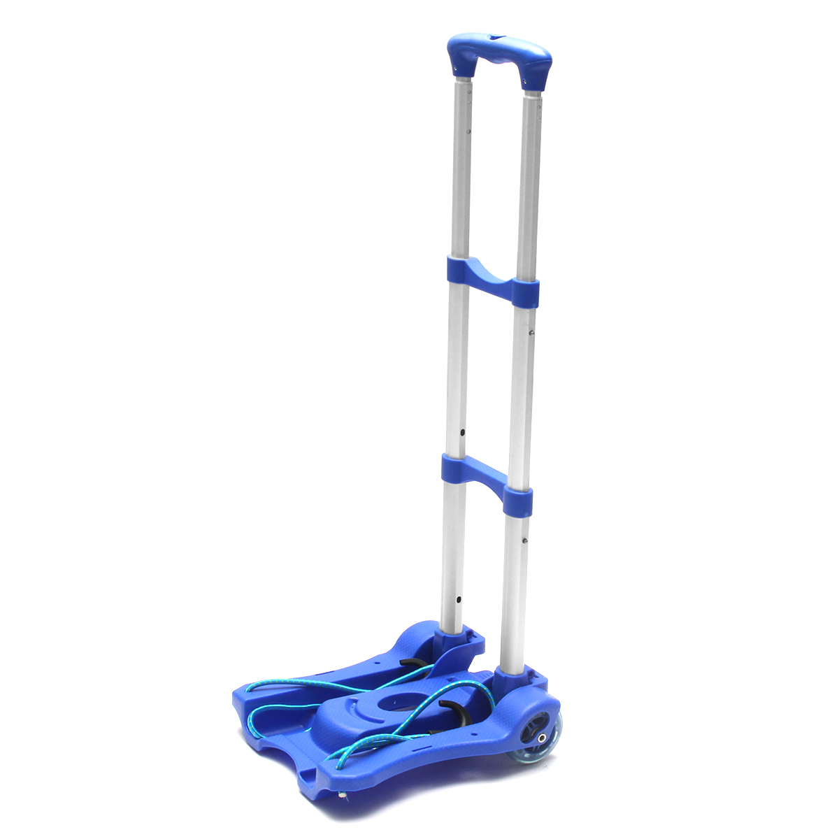 Folding Hand Truck Foldable Aluminum Luggage Carrier Dolly Push Cart Collapsible 2 Wheel