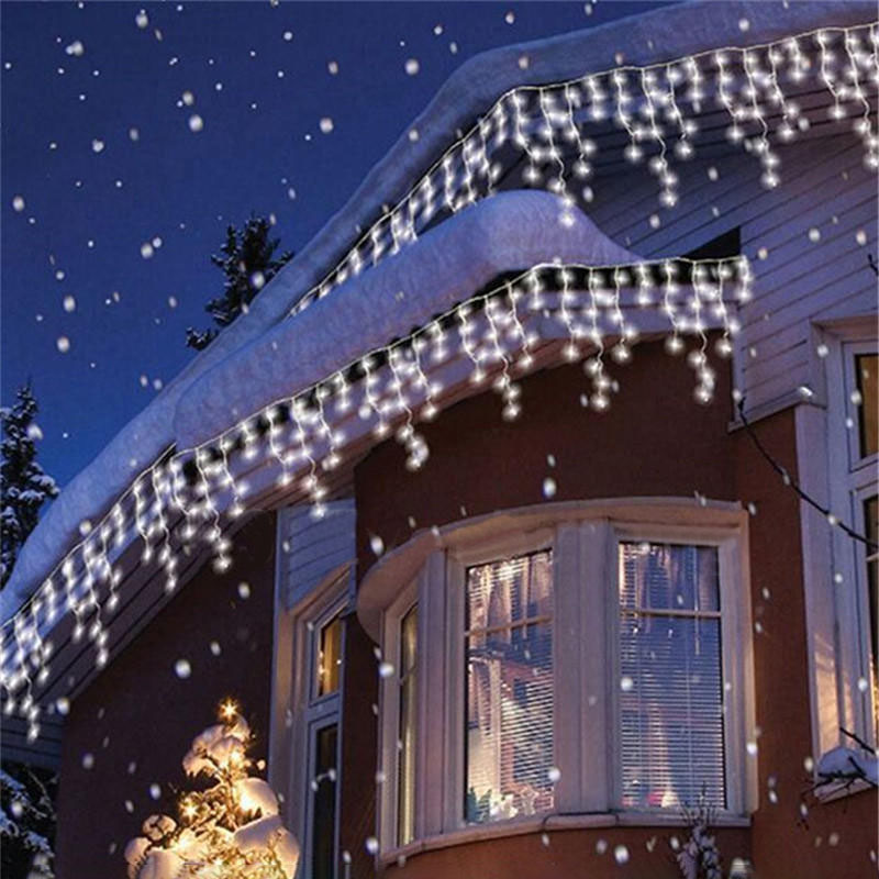 christmas lights icicle drops 4m 96 led indoor outdoor string 110 220v