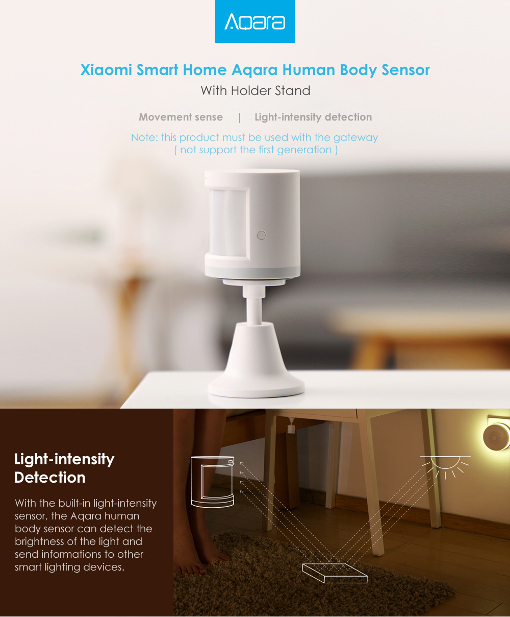 Original Aqara Zig.Bee Wireless Human Body PIR Sensor Smart Home Kit From Xiaomi Eco-System