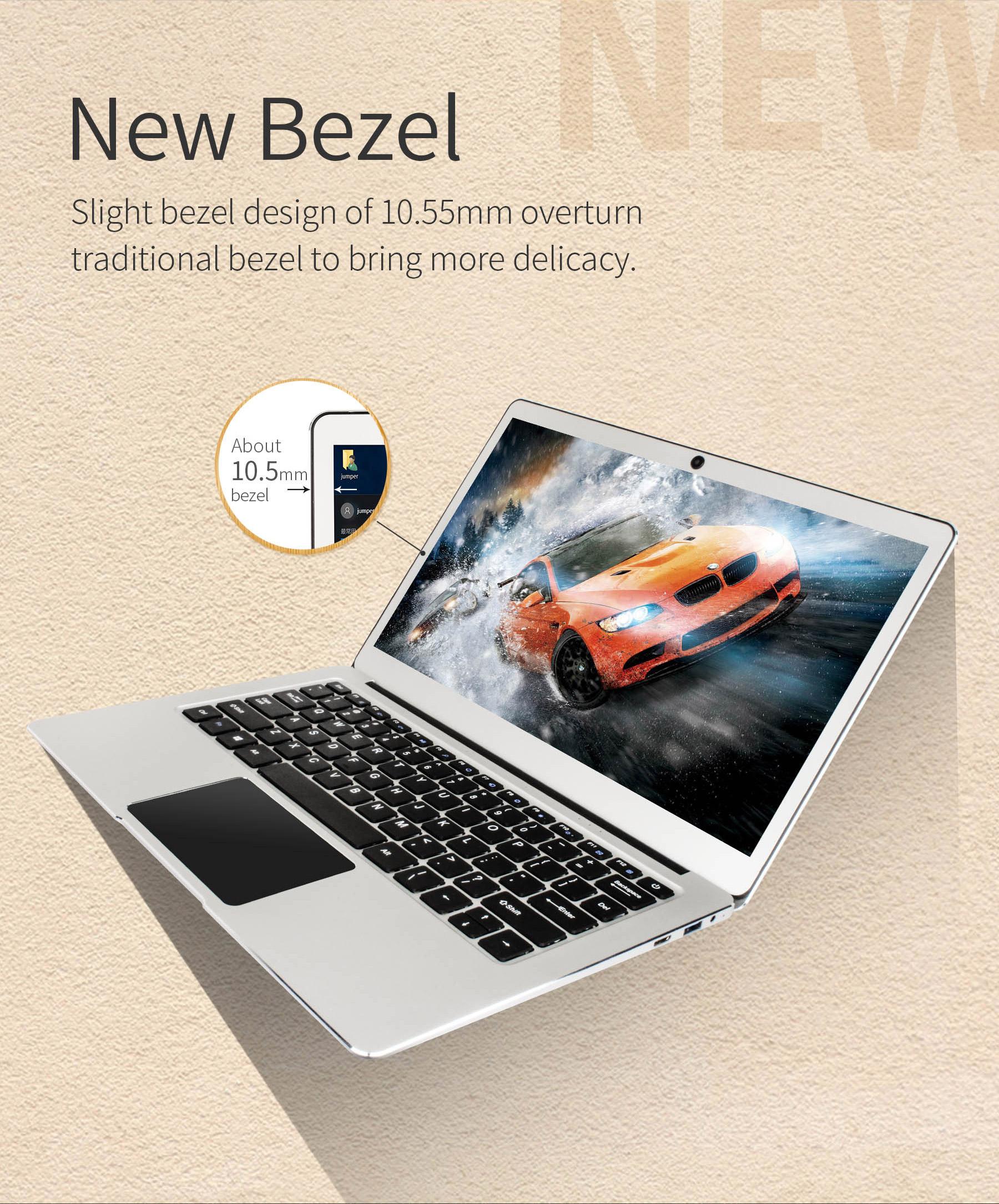 Jumper EZBOOK 3 PRO 13.3 Inch Notebook Windows 10 Intel Apollo Lake N3450 Quad Core 6GB RAM 64G eMMC / 128GB