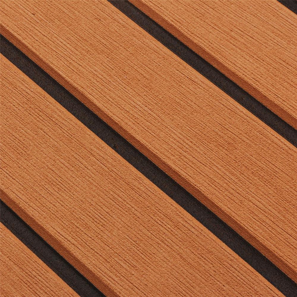 240cmx120cm Upgrade Brown EVA Foam 6mm Thickness Faux Teak Boat Flooring Decking Sheet Pad