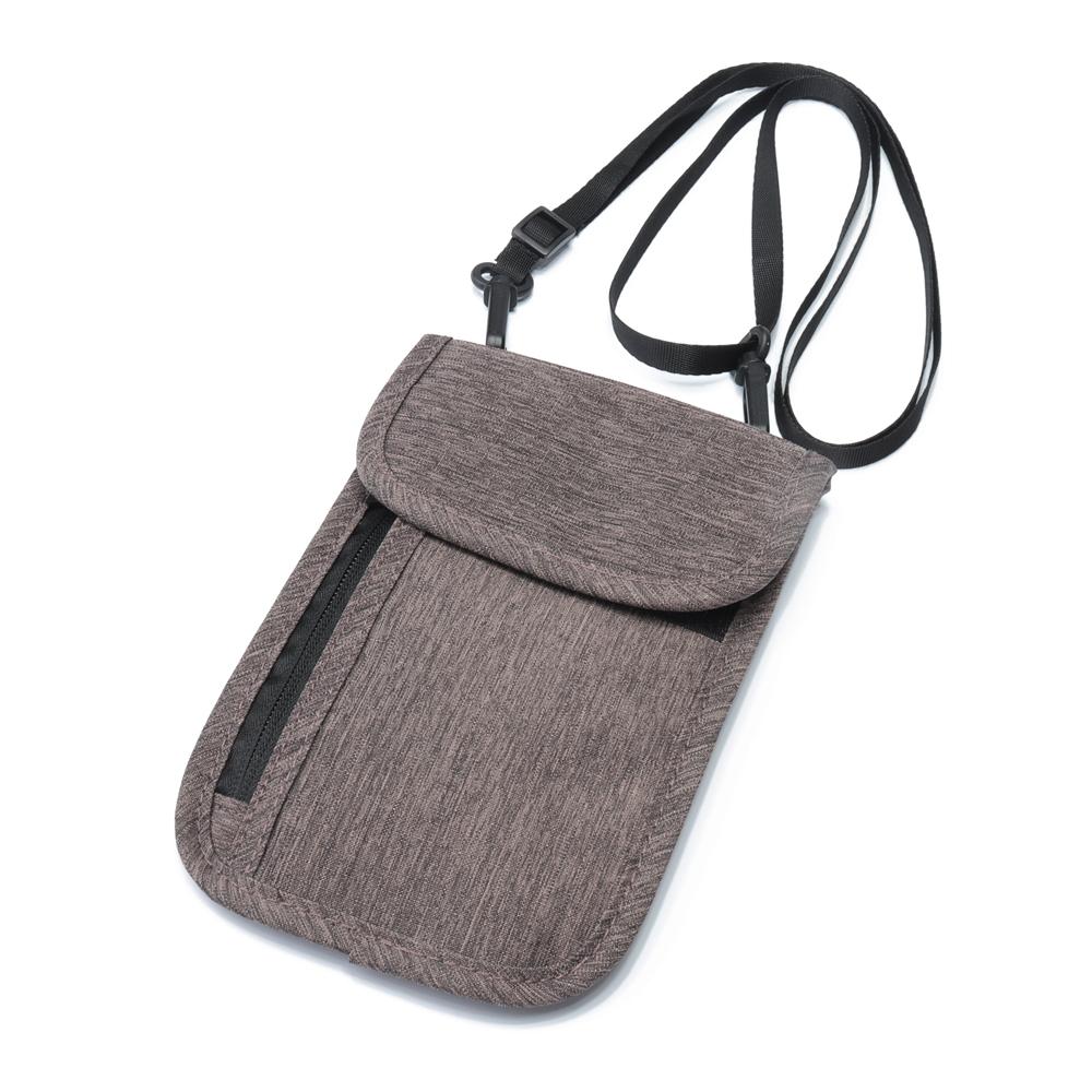 RFID Blocking Men Halter Passport Bag Protector Document Storage Bag Card Holder Sling Bag Crossbody Bag