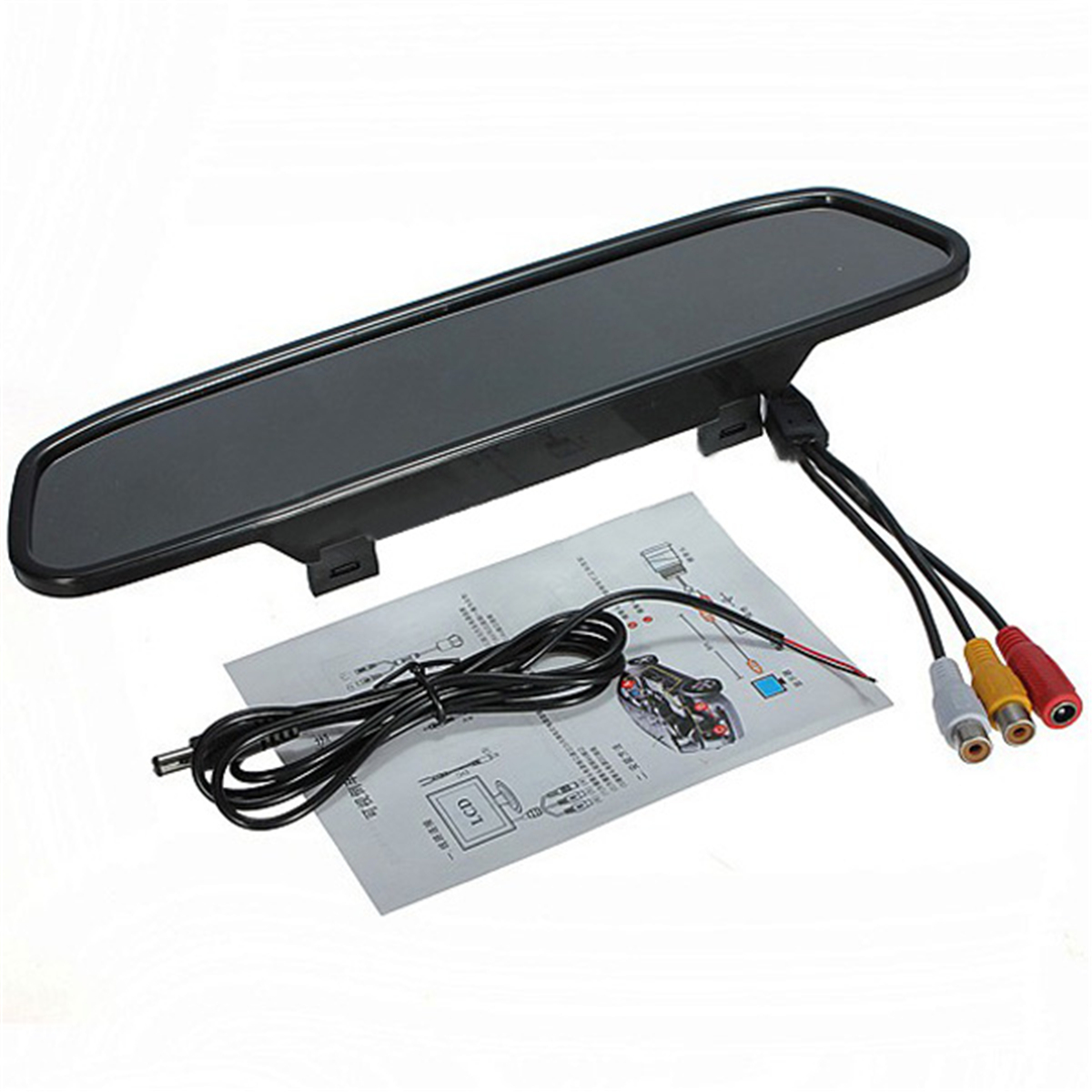 DC 12V 3W 4.3 Inch LCD Car Rear View Camera Monitor Support DVD
