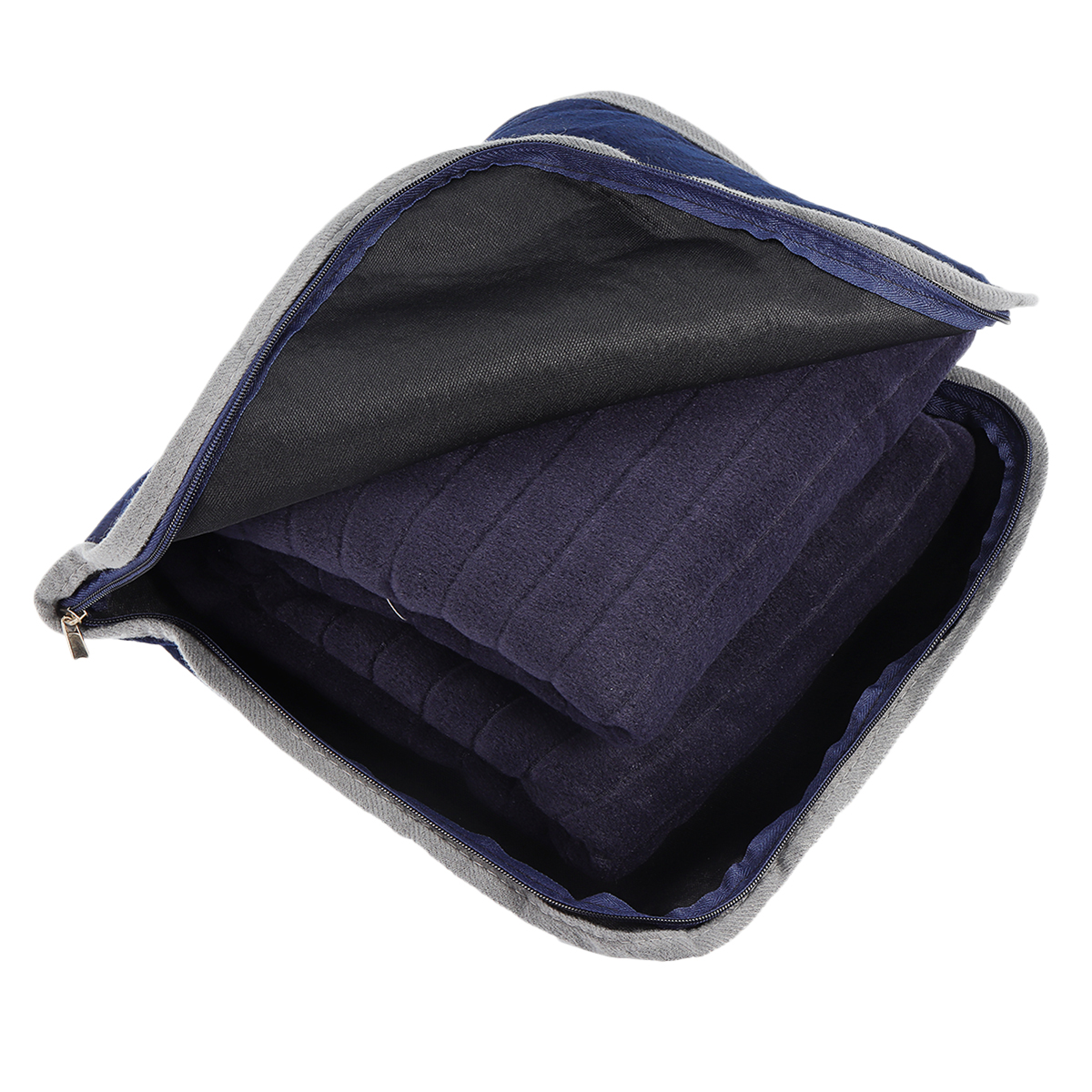 Navy Blue Warm Plush Machine Washable Blankets For Bed Throw Travel or Home