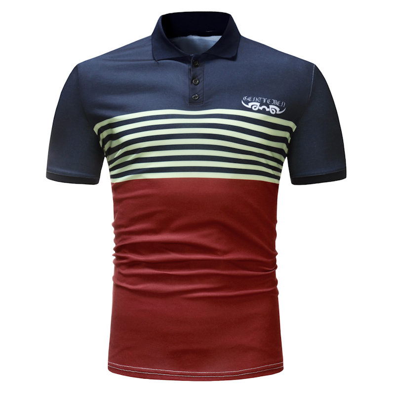 Men's Casual Cotton Breathable Short Sleeve Golf Shirt