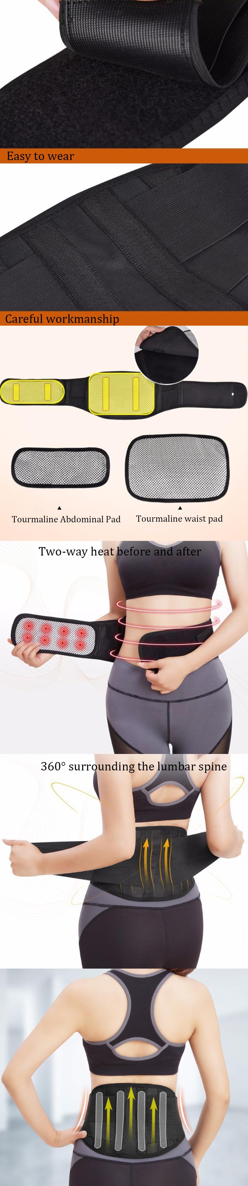 KALOAD Lumbar Support Fitness Sports Exercise Self-heating Waist Belt Training Waist Protector Belly Shaper Waist Trainer
