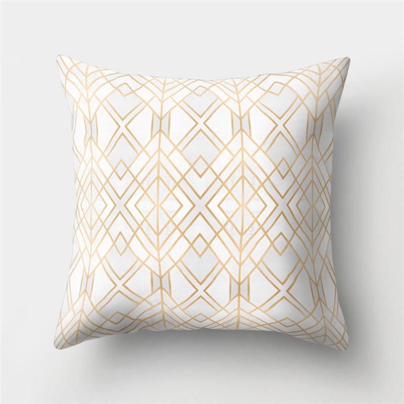 Colorful Geometric Pattern Cotton Linen Throw Pillow Cushion Cover Car Home Sofa Decorative Pillowcase