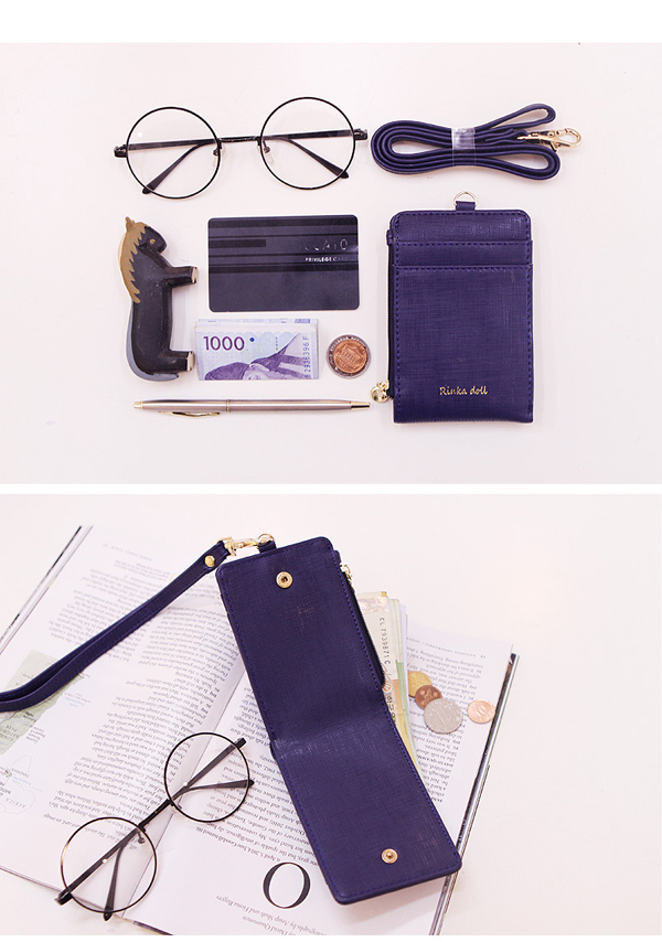 Women Girls Cute Money Purse Travel Neck Bag Wallet Credit Card Holder Neck Pouch with ID Window