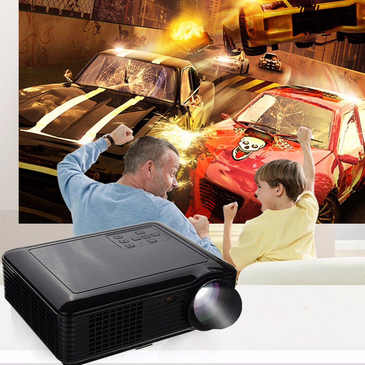 SV-226 Portable Full HD 3D 3500 Lumens LCD LED Projector Cinema Home Theater With Remote Control