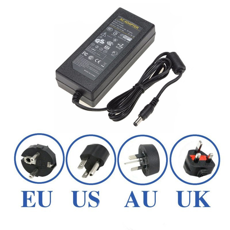 AC100-240V To DC12V 6A 72W Power Supply Adapter for LED Strip Light