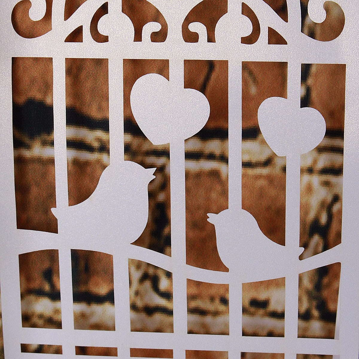 Birdcage Love Birds Heart Bunting Banner Wedding Engagement Party Garland Decoration