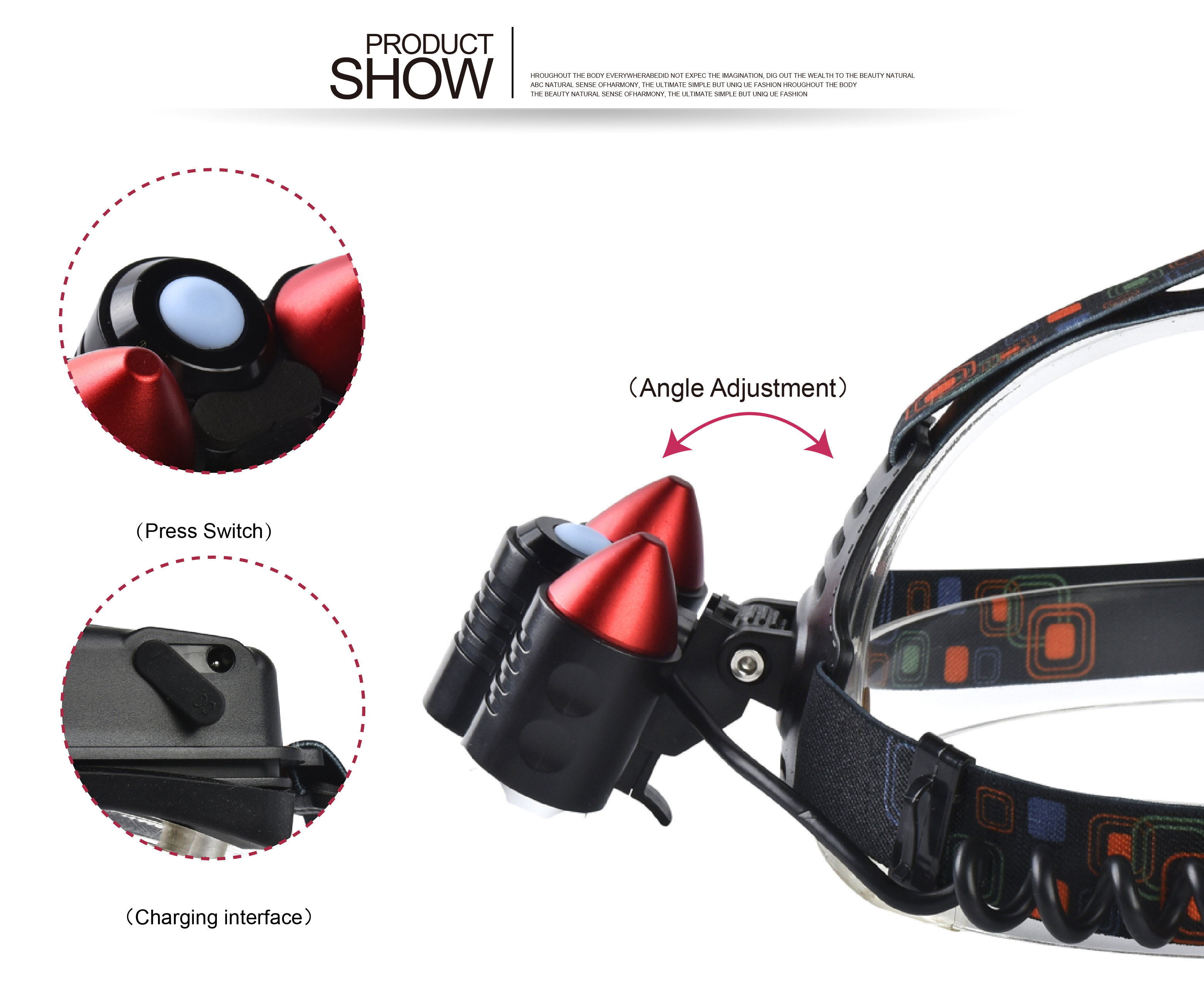XANES XQ-114 1200 Lumens T6+2XPE+Red LED+Red Laser Bicycle Headlight Outdoor Sports Adjustable