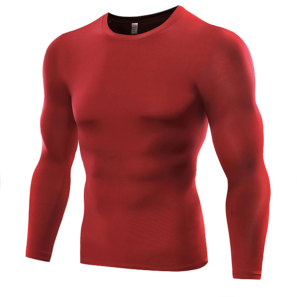 Mens Training Tight Quick Drying Sport Long Sleeve Tops