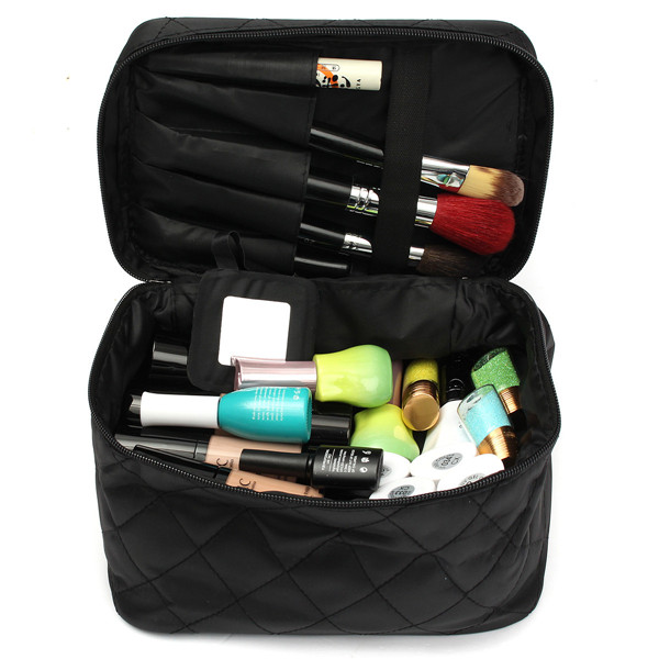Ladies Cosmetic Bag Travel Makeup Tool Organizer Nail Polish Storage 6 Colors