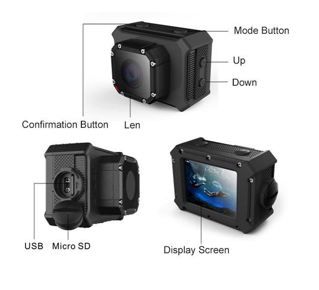 XANES DV-600 4K WiFi Sports Camera 1080P 2.0 LCD HD 20m Waterproof DV Video Sport Mini Recorder