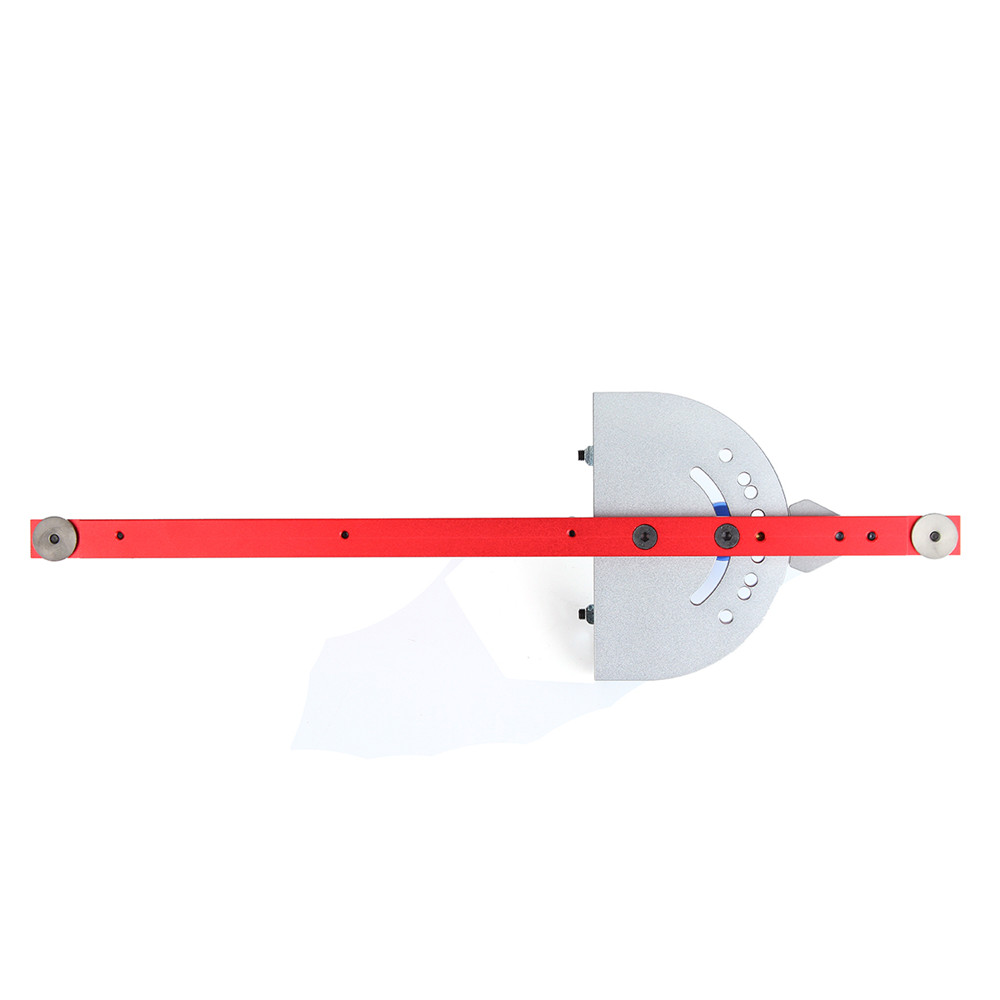 Red Miter Gauge Table Saw Router Miter Gauge Sawing Assembly Ruler Woodworking Tool for Bandsaw