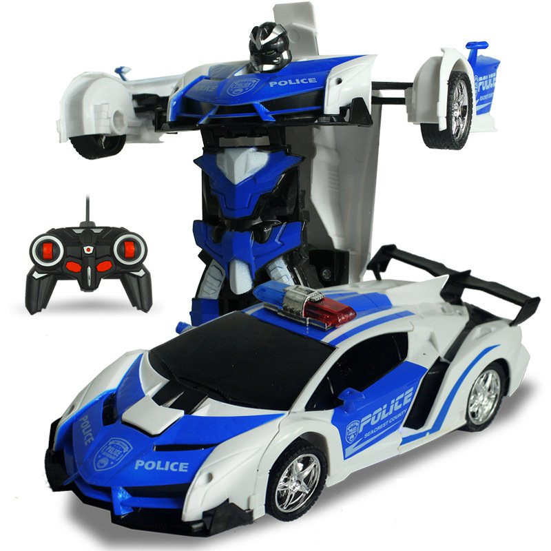 Rastar 2 In 1 Rc Car Sports Wireless Transformation Robot Models Deformation Fighting Toys