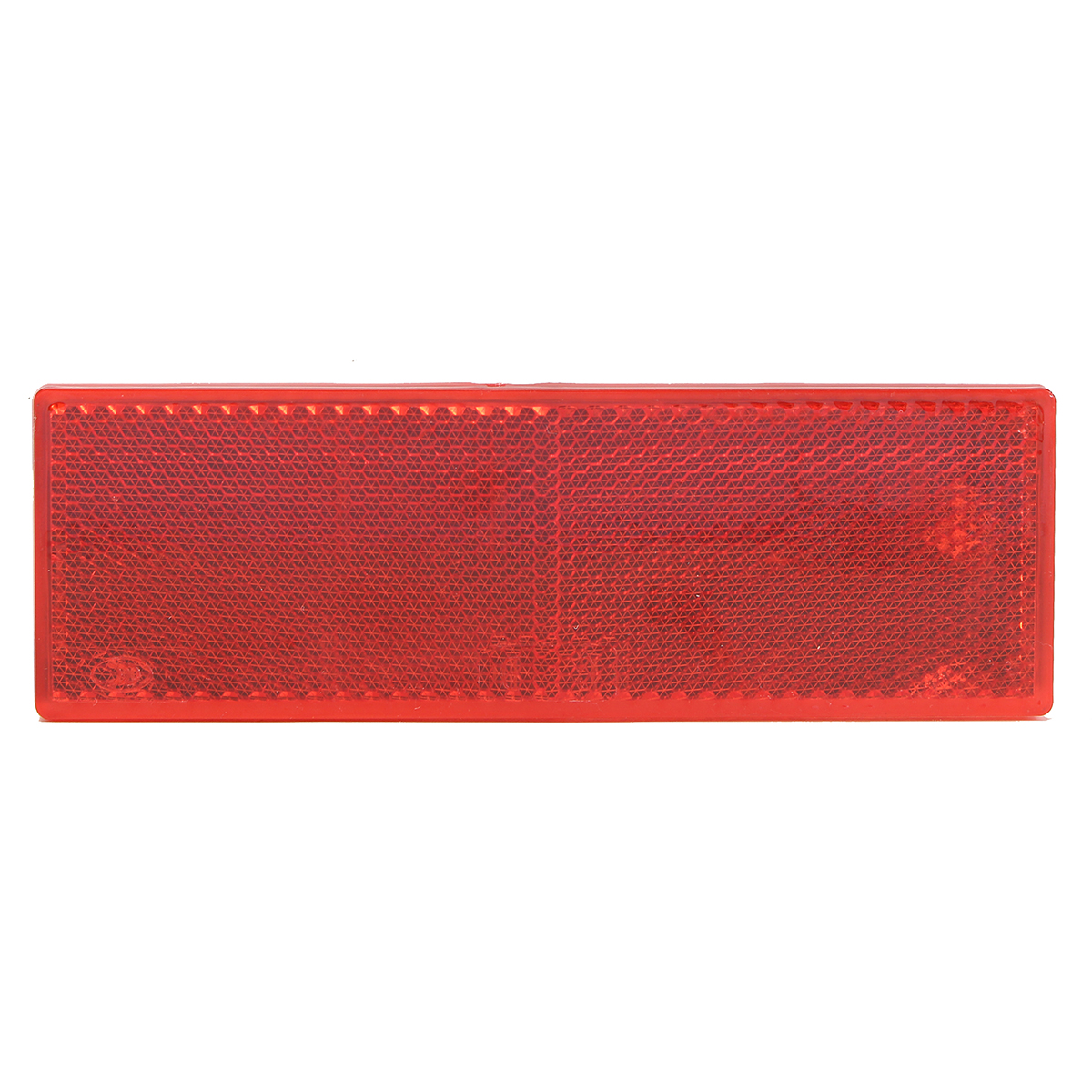 150x50mm Red Rectangle Reflector Reflective Strips Side Marker Self-Adhesive for Vehicles