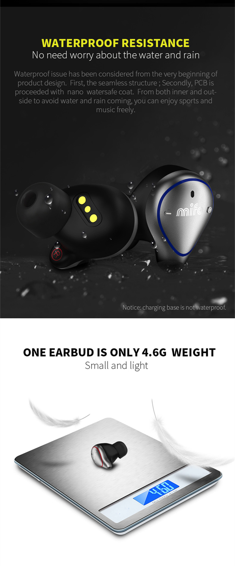 [True Wireless] Mifo O5 bluetooth 5.0 Balance Armature Drive Unit + Dynamic Drive Mini Binaural In-ear Sports Waterproof Stereo Hifi Earphone for Phones