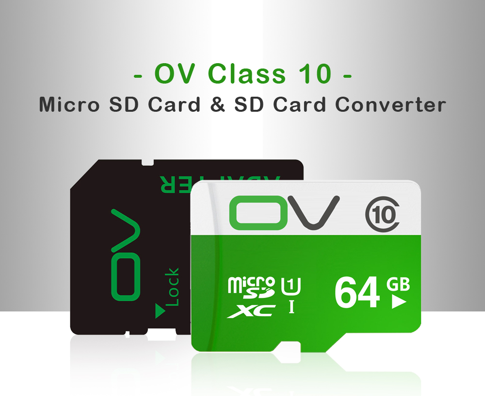 Original OV 80MB/S Class10 Micro SD Memory Card With Micro SD to SD Card Reader Set
