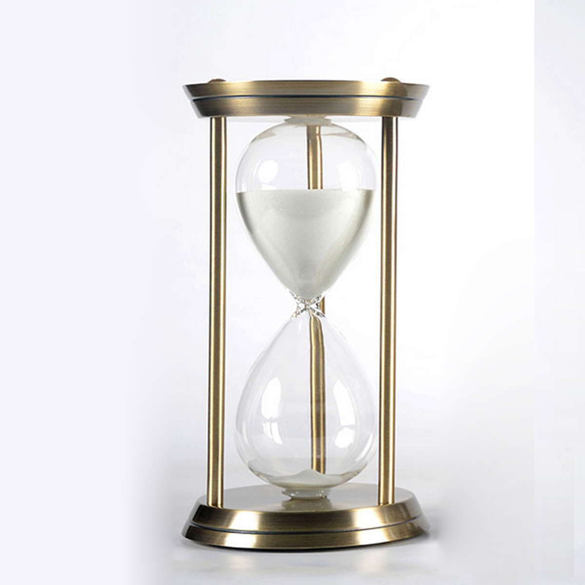 Metal Hourglass Timer Decoration Creative Birthday Business Gift Gold 15 Minutes