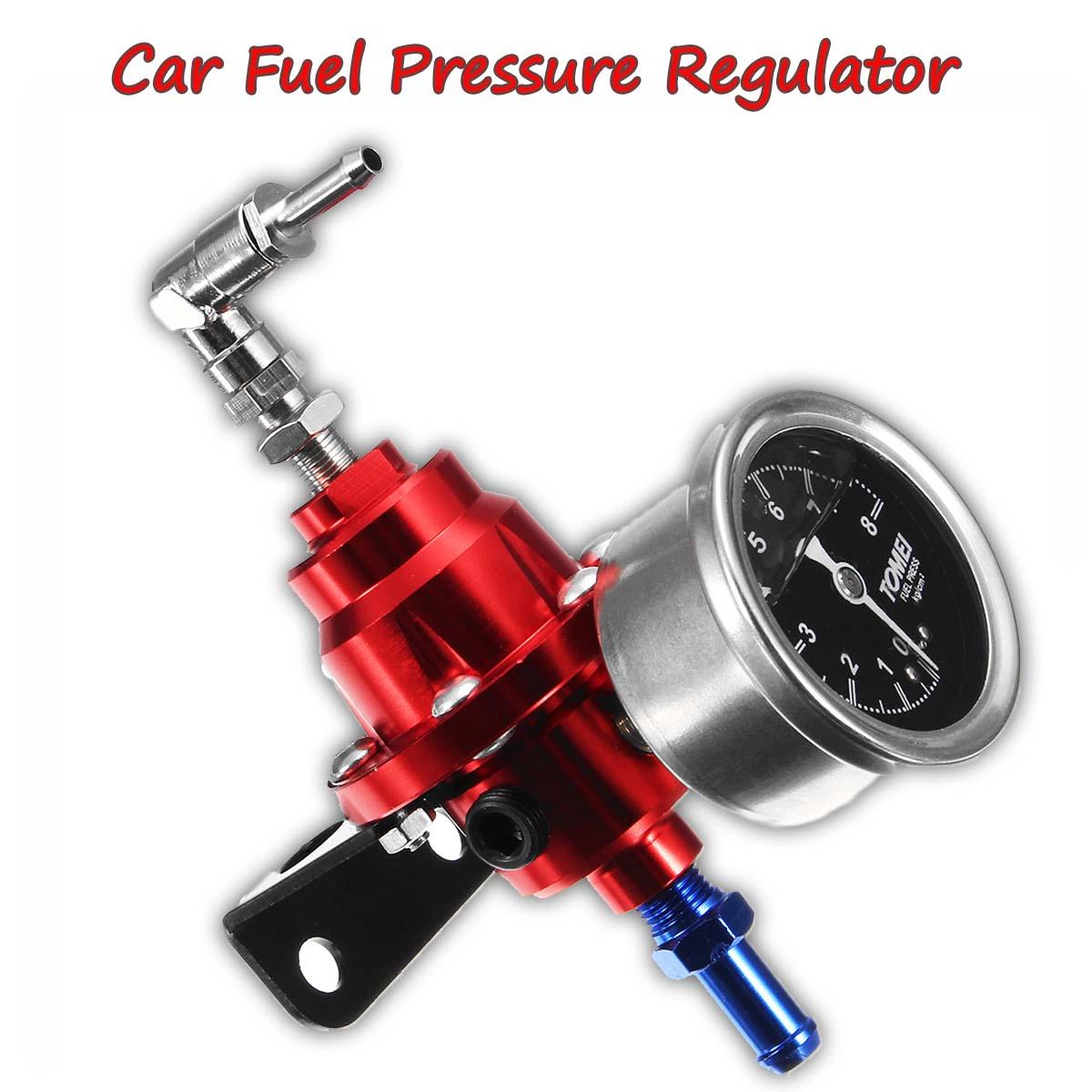 Universal Adjustable Car Fuel Hose Auto Pressure Regulator With 160PSI Oil Gauge Kit