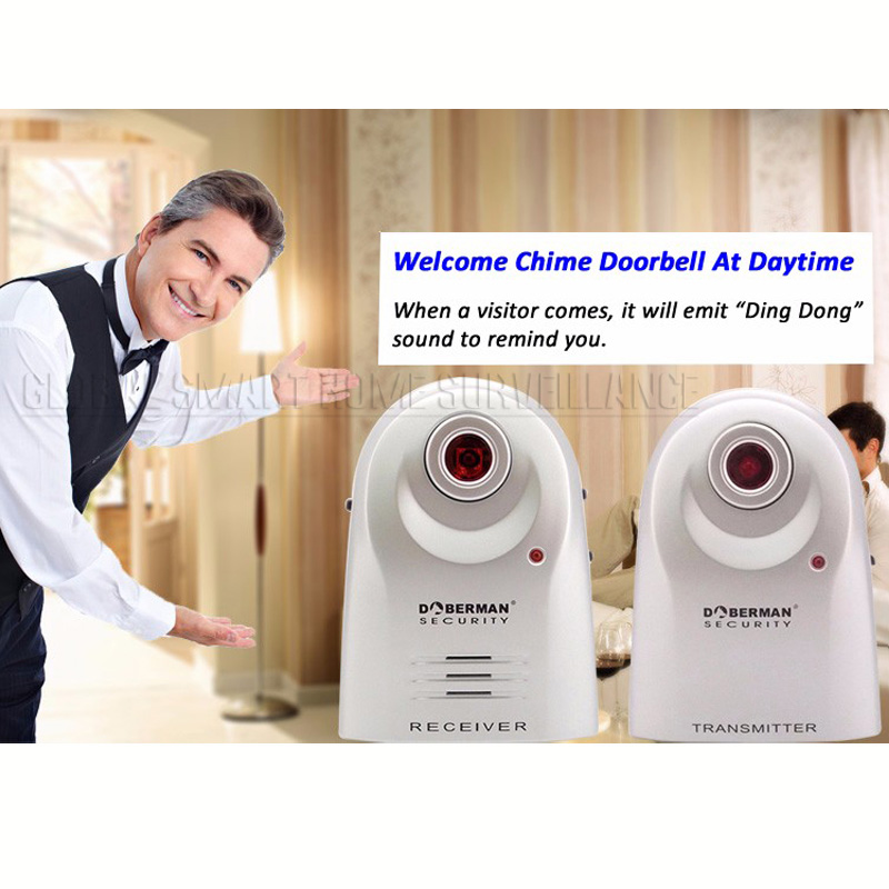 Electronic Infrared Sensor Alarm Home Door Window Alarm Access Doorbell Anti Theft Welcome Sensor