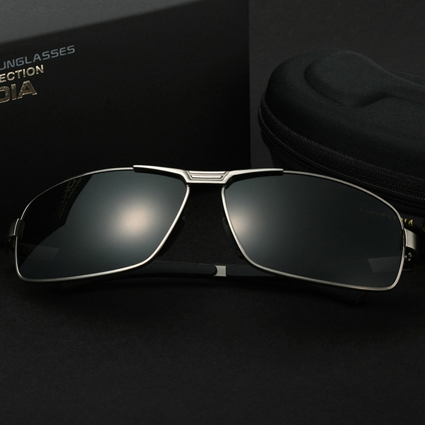 Men Polarized Sunglasses Vintage Outdoor Sports Driving Square Full Frame Gafas Eyewear