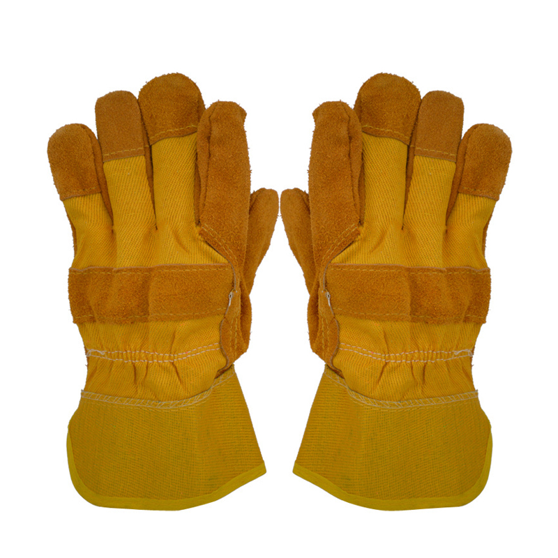 KALOAD Cowhide Leather Welding Gloves Wearproof Cut-Resistant Anti-stab Security Protection Fitness