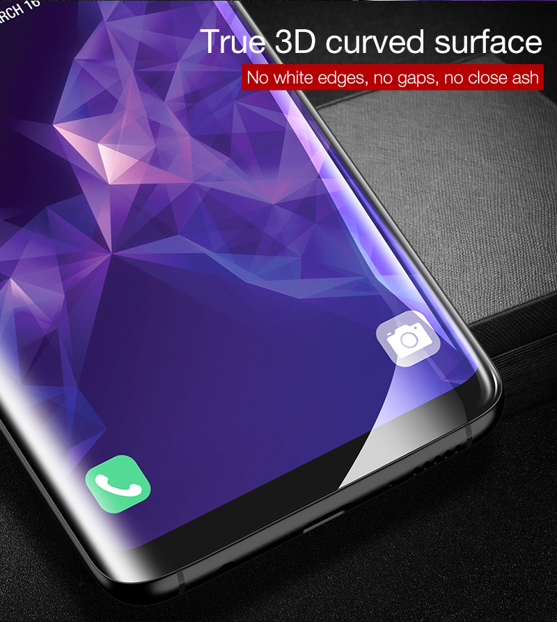 Cafele Clear 3D Curved Edge Self-repairing Hydrogel Phone Screen Protector+Tools For Samsung Galaxy S9 Plus