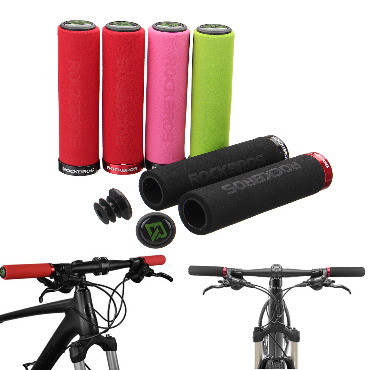 RockBros 1 Pair Bike Handlebar Grips Bicycle MTB BMX Bi