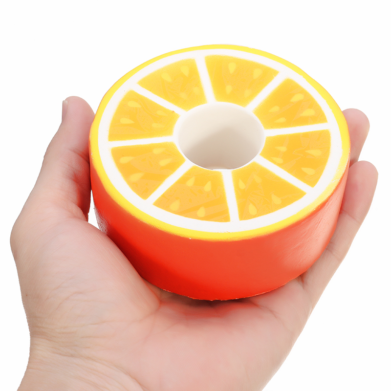 SquishyShop Orange Donut Bread Squishy 9cm Slow Rising With Packaging Collection Gift Decor Toy
