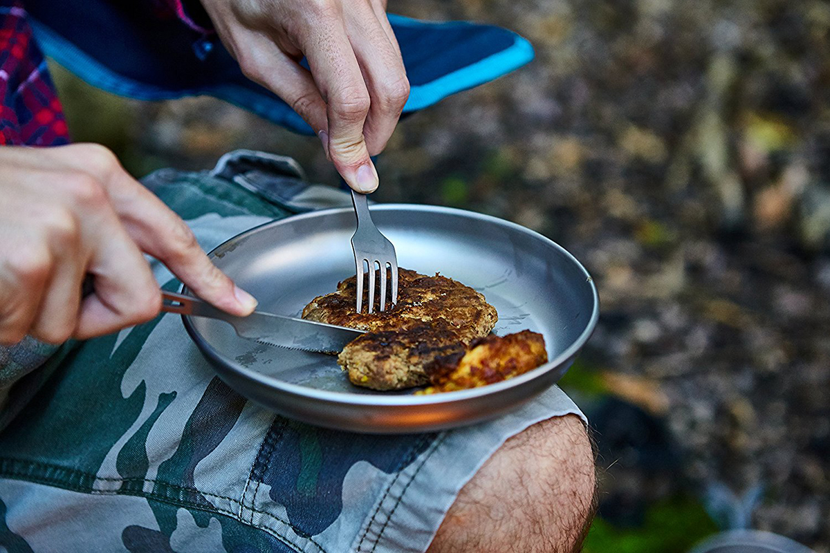 Titanium 3 Piece Fork Spoon Camping Hiking Survival Cutlery Set
