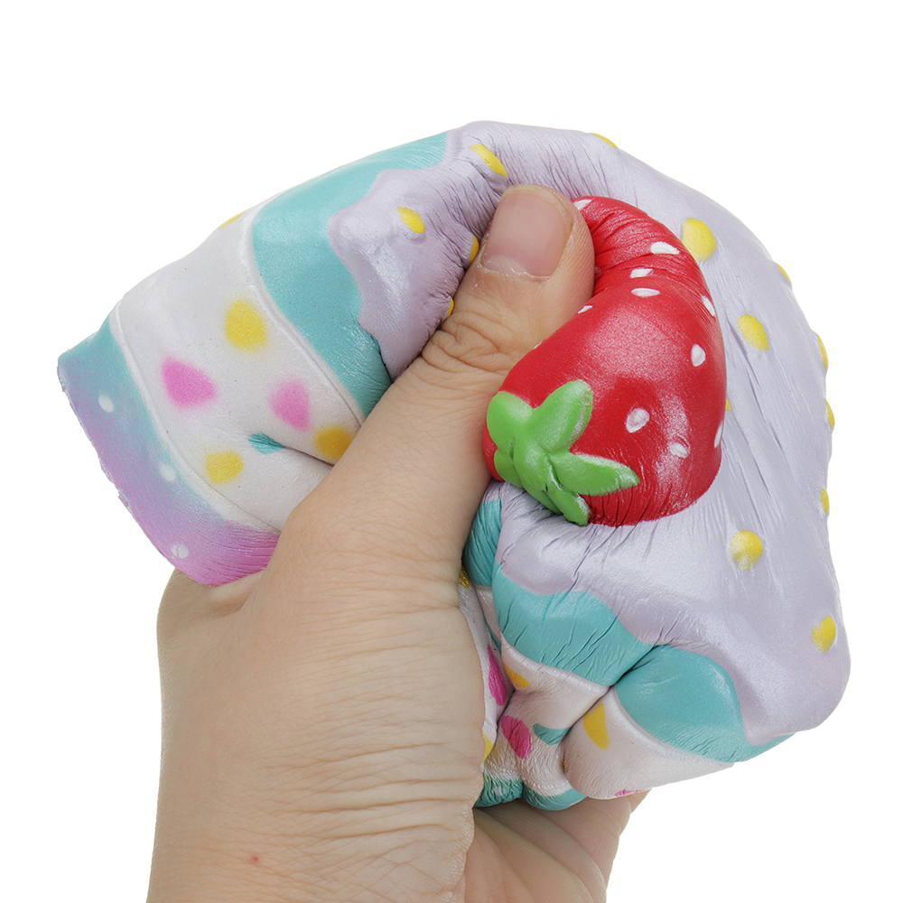 Kiibru Strawberry Mousse Cake Squishy 10*8*8.5CM Licensed Slow Rising With Packaging Collection Gift