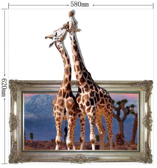 Giraffe 3D Wall Decal PAG STICKER Removable Wall Picture Art Animal Stickers Home Decor Gift