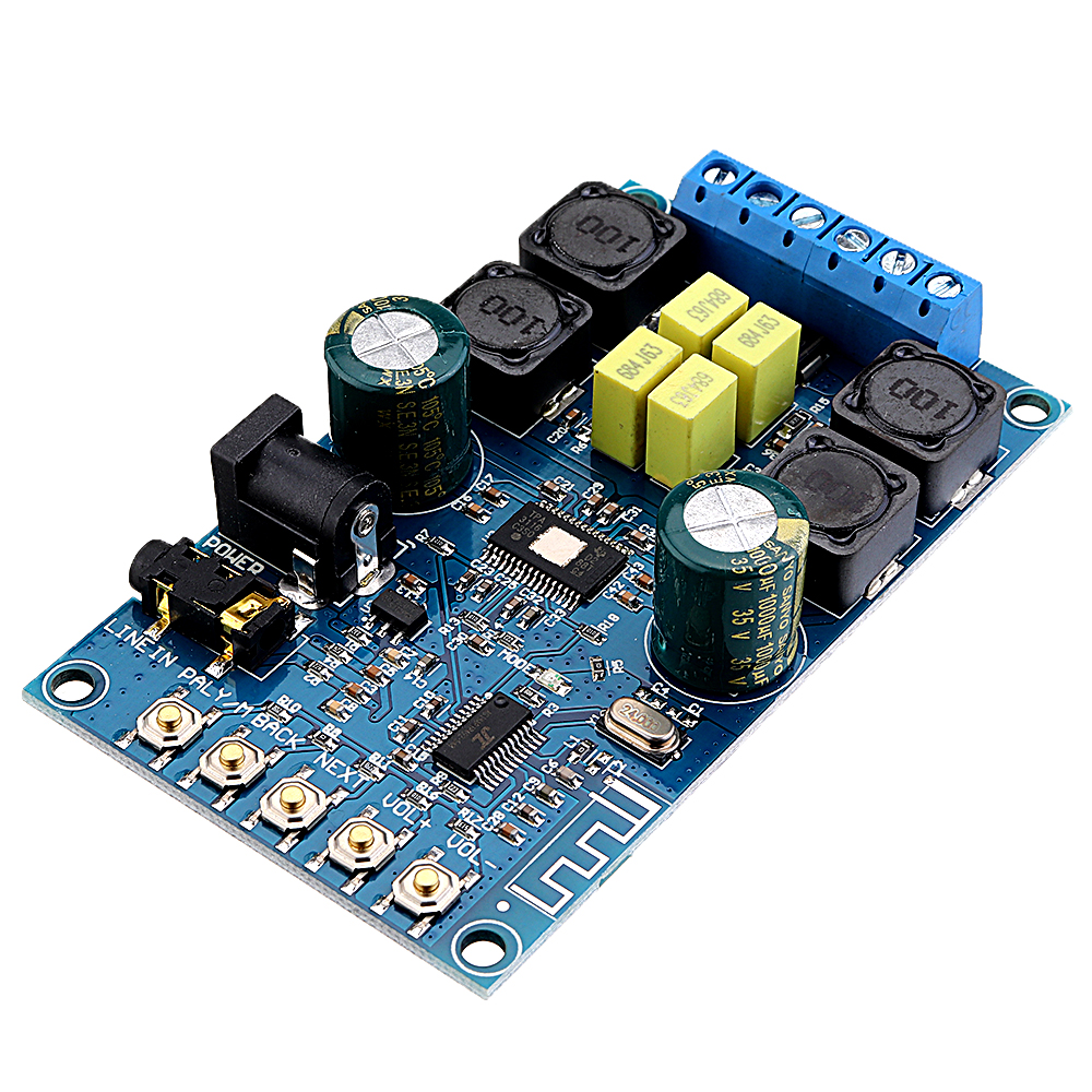 2x50W Two Channel Stereo bluetooth Power Amplifier Module Audio Receiver 12V Digital Speaker For Home Car DIY