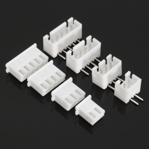 Excellway® Terminals 40 Pcs 2p 3p 4p 5pin Right angle JST-XH Male Female Lipo Balance Connector