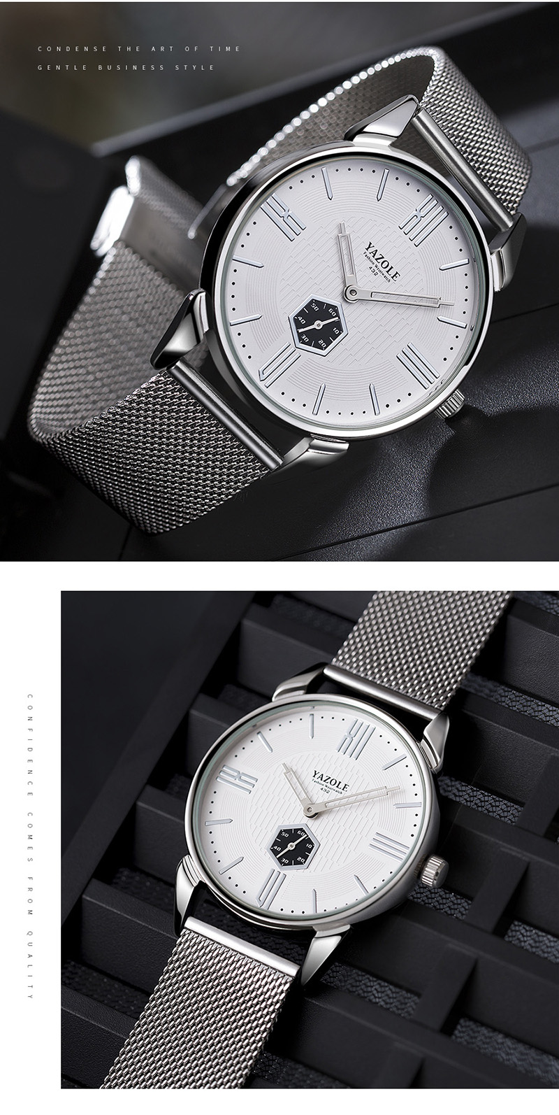YAZOLE 432 Casual Style Designed Small Dial Men Watch