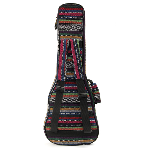 Soft Pad Cotton Folk Style Hand Portable Bag Case Cover for 26 inch Ukulele