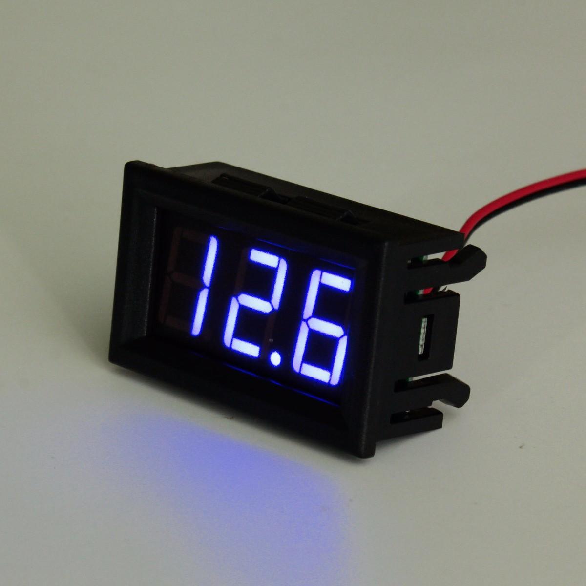 3-30V DC 0.56 Inch Voltage Meter Board LED Amp Digital Voltmeter Gauge