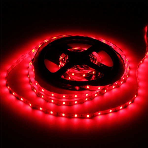 5M 10.8W DC12V LED Strip Light 3528 300 LEDs White/Warm White/Red/Blue With DC female Connector
