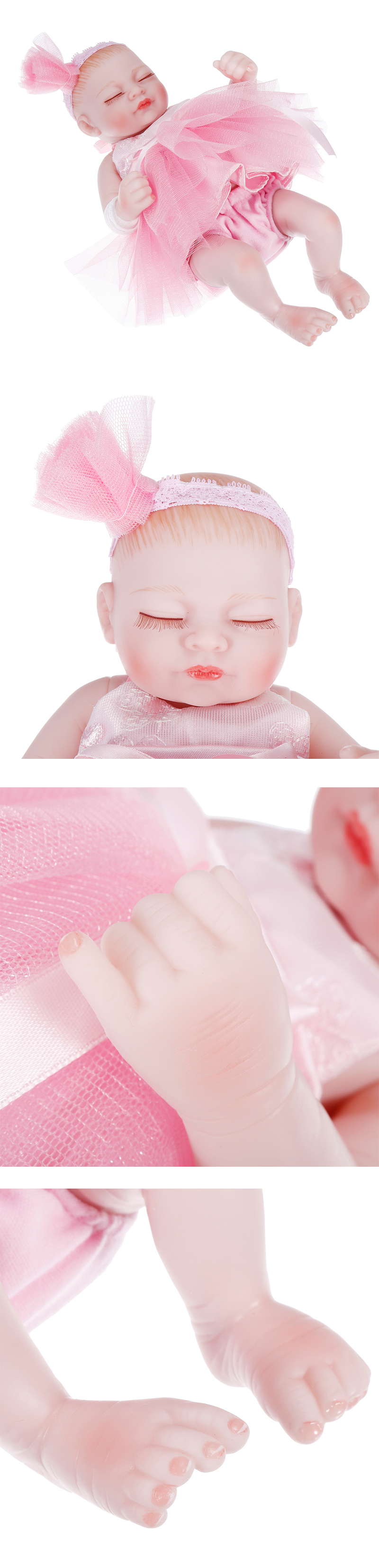 NPK 10 Inch 26cm Reborn Baby Soft Silicone Doll Handmade Lifeike Baby Girl Dolls Play House Toys Birthday Gift