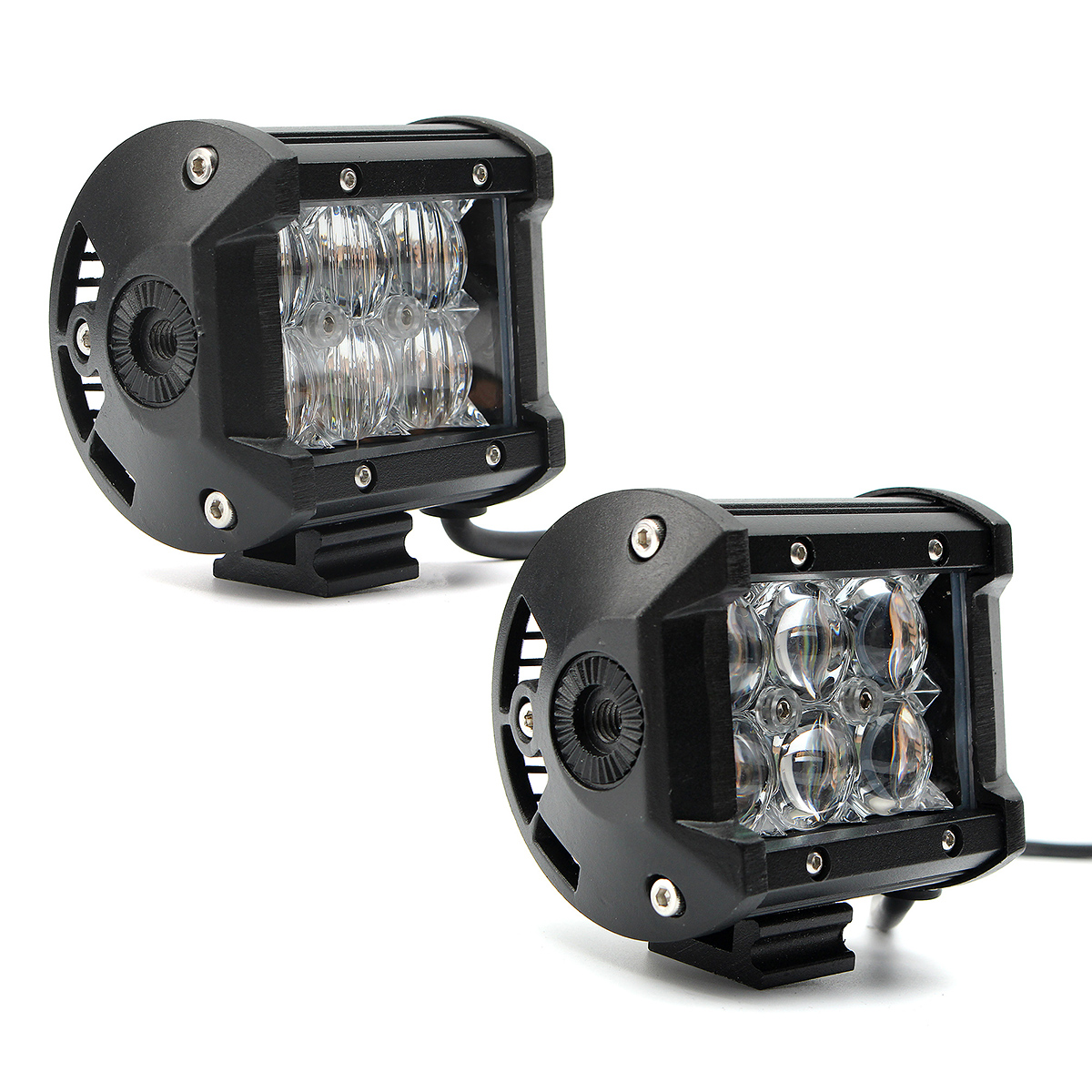DC12-24V 18W 4inch 5D Lens Flood/Spot Beam Off Road LED Light Bars for Jeep SUV Car Truck