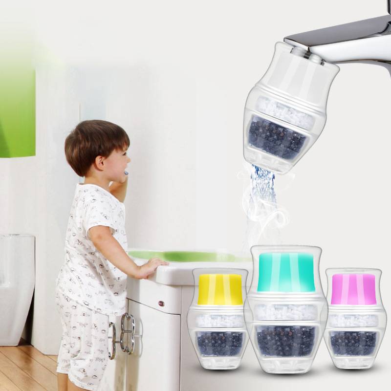 Faucet Water Filter Activated Carbon Home Kitchen Fauce