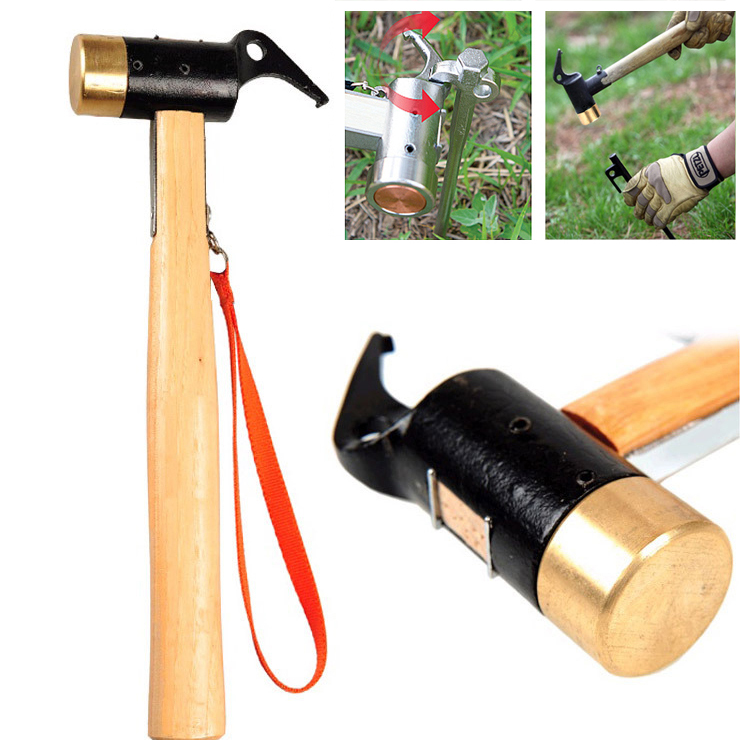 Selpa Outdoor Camping Copper Mallet Brass Hammer For Te